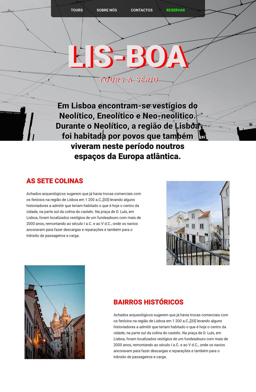 Home - Site Modelo Lis-Boa