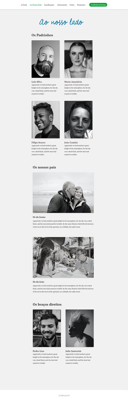 Ao nosso lado - O Casamento - Site Modelo - OMeuSite-PT