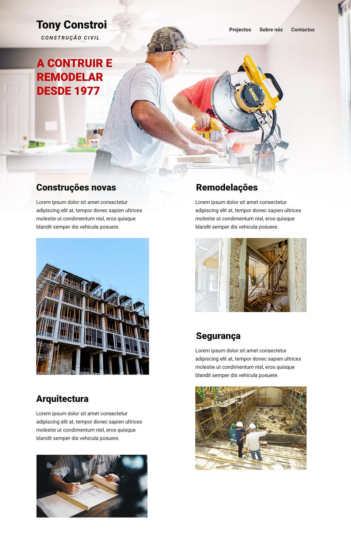 Home - Site Modelo Tony Constroi