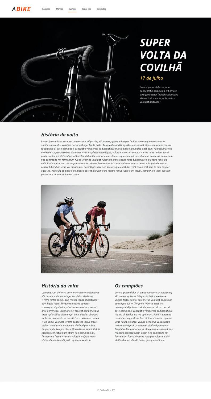 Evento Super volta da Covilhã - A Bicicleta - Site Modelo - OMeuSite-PT
